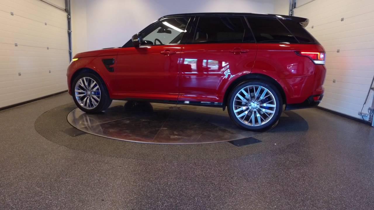Range Rover Sport SVR RED  YouTube