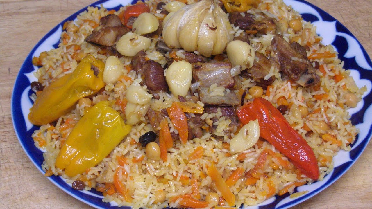 How To Cook Easy Rice Pilaf with Meat Carrot Raisins ...