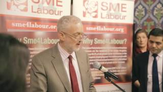 Jeremy Corbyn MP, leader of the Labour Party speaking at SME4LABOUR launch reception in Parliament