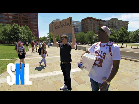 Thumbnail: Weekend Update: Colin and Che Hand Out Free Water at the DNC - SNL