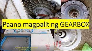 WASHING MACHINE REPAIR TUTORIAL - CHANGING  THE GEARBOX