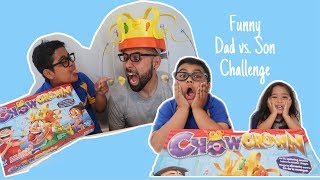 FUNNY Chow Crown Challenge with ThatBoySkye and Family!