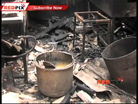 A Hotel Burned By Petrol Bombs In Coimbatore - Red Pix