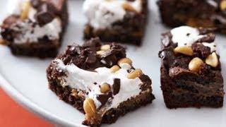 Chocolate-Peanut Butter Mallow Bars Recipe