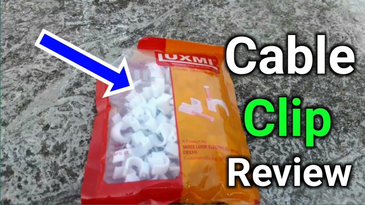 Cable clip review & price in hindi