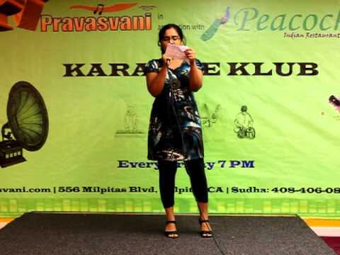 Kiran on PRAVASVANI 1170 AM KARAOKE on 9/30/11