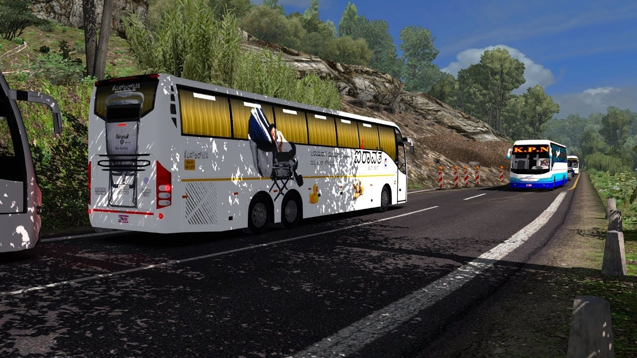🔴 (ETS2) Euro Truck Simulator 2 Indian Bus Mod | Volvo 9400 [Official  Release]
