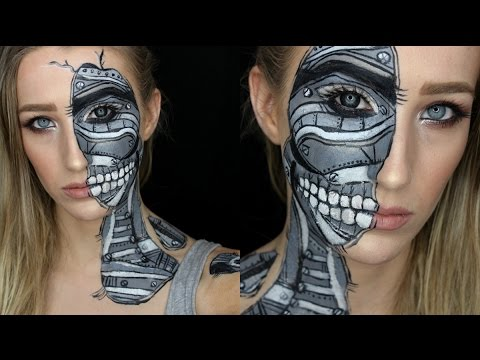 Robot SFX Halloween Makeup Tutorial! - YouTube