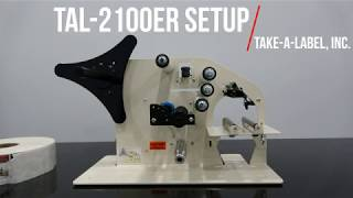 TAL-2100ER Label Threading