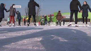 Ещё один бесплатный каток открылся в Алматы (07.12.17)