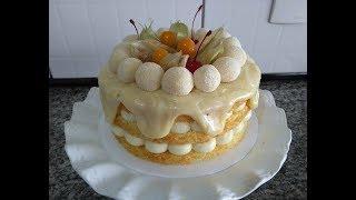 NAKED CAKE DE NINHO COM ABACAXI