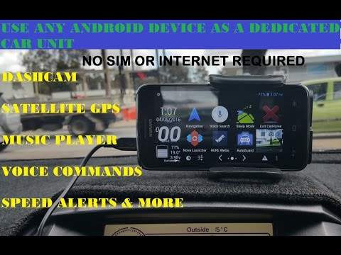 How to use any android as a car Dash cam, Satellite GPS, Media player