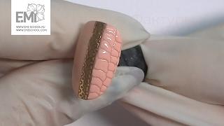 Мастер-класс дизайн ногтей фактура рептилии