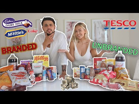 BRANDED vs UNBRANDED FOOD CHALLENGE | £100 CASH PRIZE!