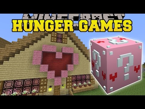 Minecraft: GAMINGWITHJEN'S HOUSE HUNGER GAMES - Lucky Block Mod - Modded Mini-Game