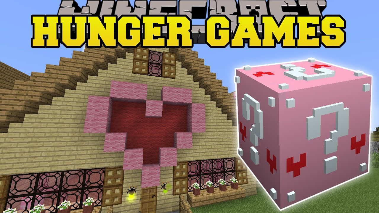 Minecraft GAMINGWITHJENS HOUSE HUNGER GAMES Lucky Block Mod - Minecraft hauser video