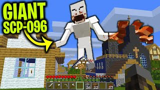 GIANT SCP-096 TAKES OVER OUR MINECRAFT BASE .... (Scary Minecraft Video)