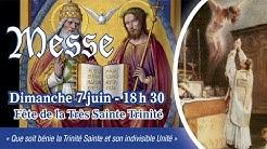 Messe de 18 h 30 - Dimanche de la Sainte Trinité - Abbé G. BILLECOCQ