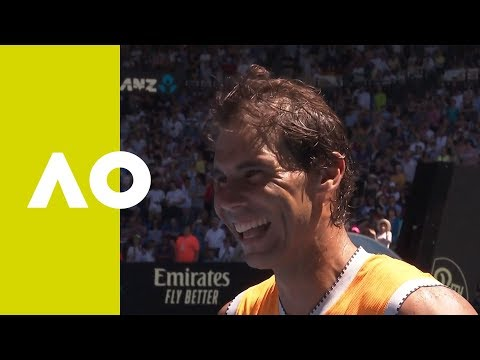 Rafael Nadal on-court interview (1R) | Australian Open 2019