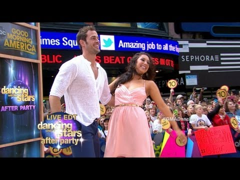 William Levy, Cheryl Burke Perform Cha - Cha Live on 'GMA' as 'Dancing with the Stars' Names Winner