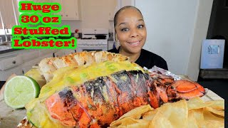 GIANT 3Ooz LOADED LOBSTER TAIL MUKBANG!