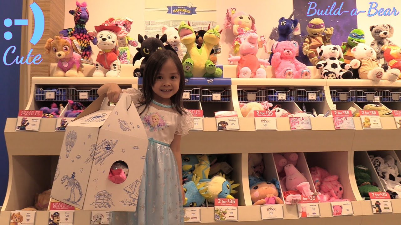 Kid s Toy Channel Cute Stuffed Toys Build A Bear Workshop Visit