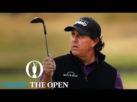 INSIDE THE OPEN - Mickelson practices flop shots