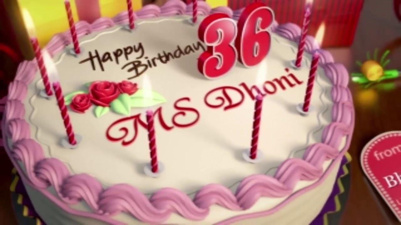 Happy Birthday Ms Dhoni Youtube