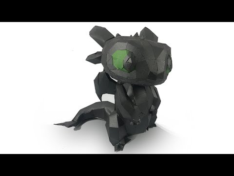 DIY Amazing Toothless Dragon With Paper Craft | Toothless DIY | HTTYD
