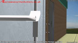 Steel door, Steel fire exit, Steel emergency exit, fire door