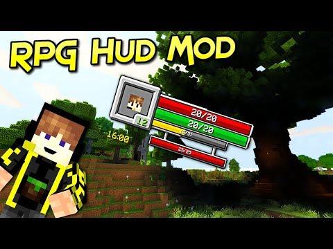 RPG Hud Mod | Indicador De Vidas Épico Para Tu Aventura | Minecraft 1.12 – 1.8.9 | Review Español