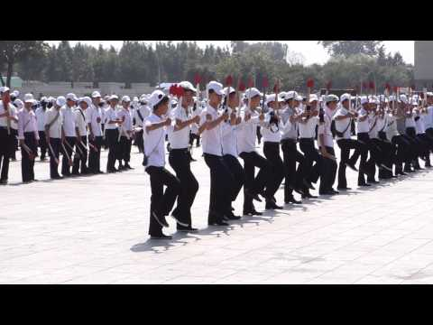 Practicing Marching Formations in Kim Il Sung Square
