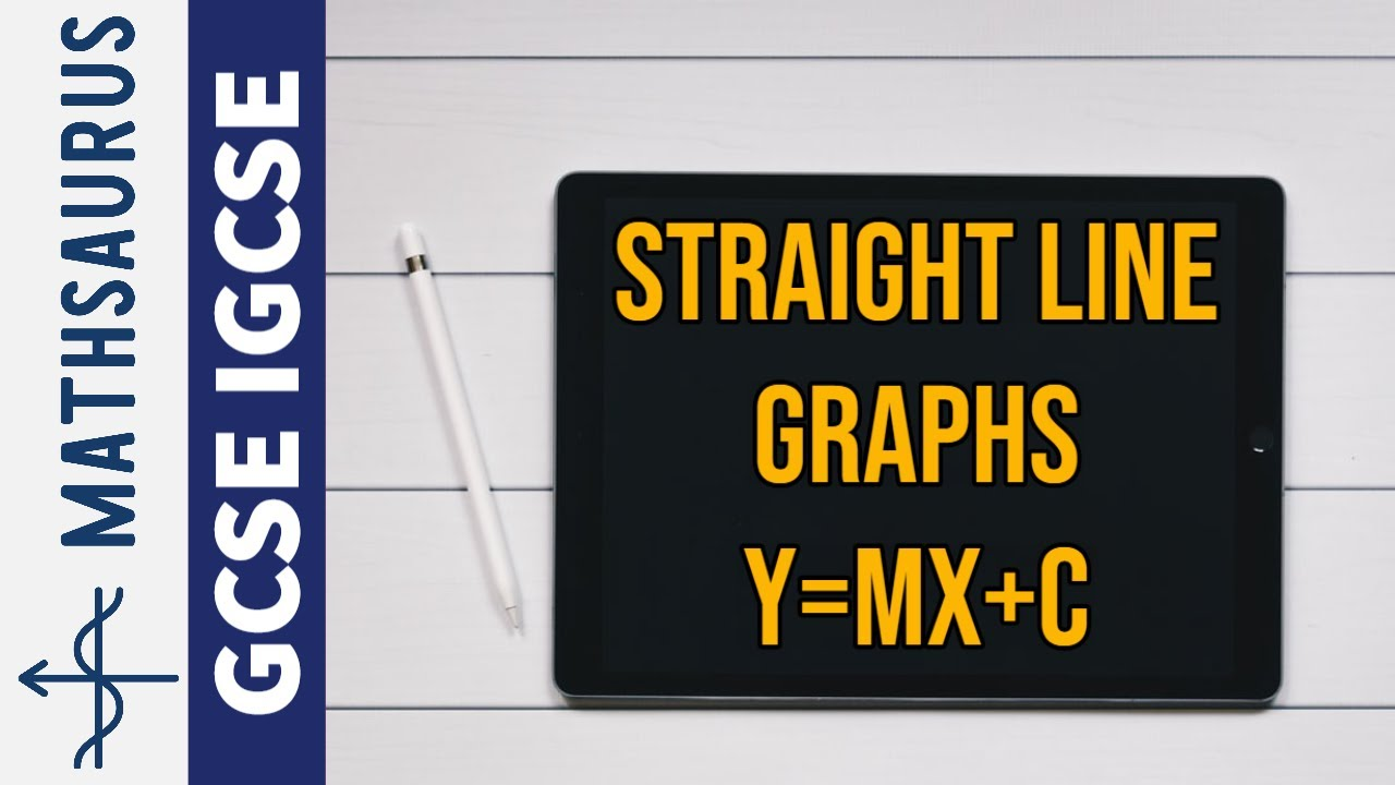 Drawing Lines Using Y Mx C : Straight line graphs and the form y mx c youtube