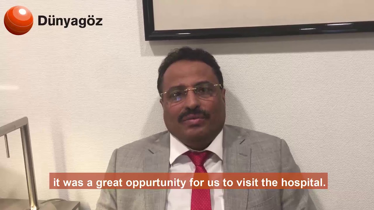 The Minister of Communications of Yemen preferred Dünyagöz For His Eye Health
