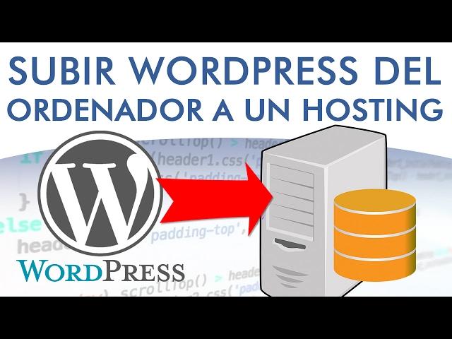 🔵 Cómo migrar o subir una web de localhost a un servidor online o hosting