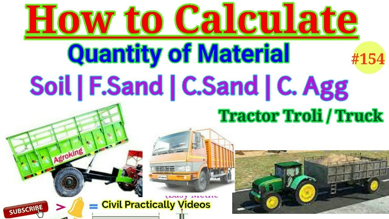 How to Calculate Quantity of Material in Tractor Tralli or Truck    Volume  of Tractor Trali , Truck