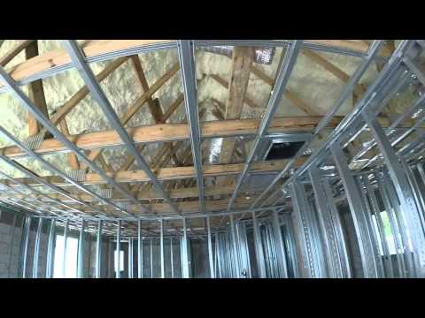 Waterfront home utilizing spray foam insulation