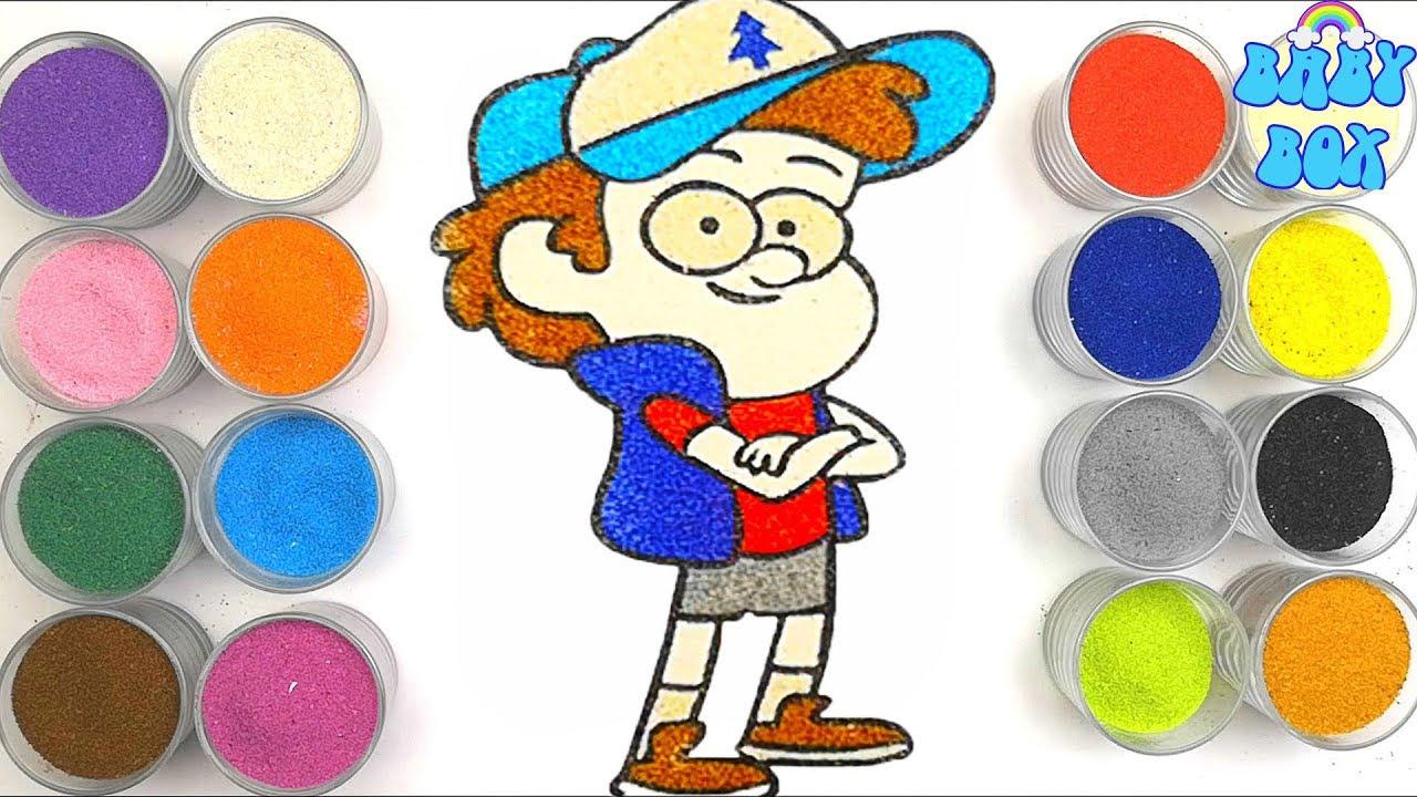 Раскраска для детей Гравити Фолз. Рисование песком. - YouTube