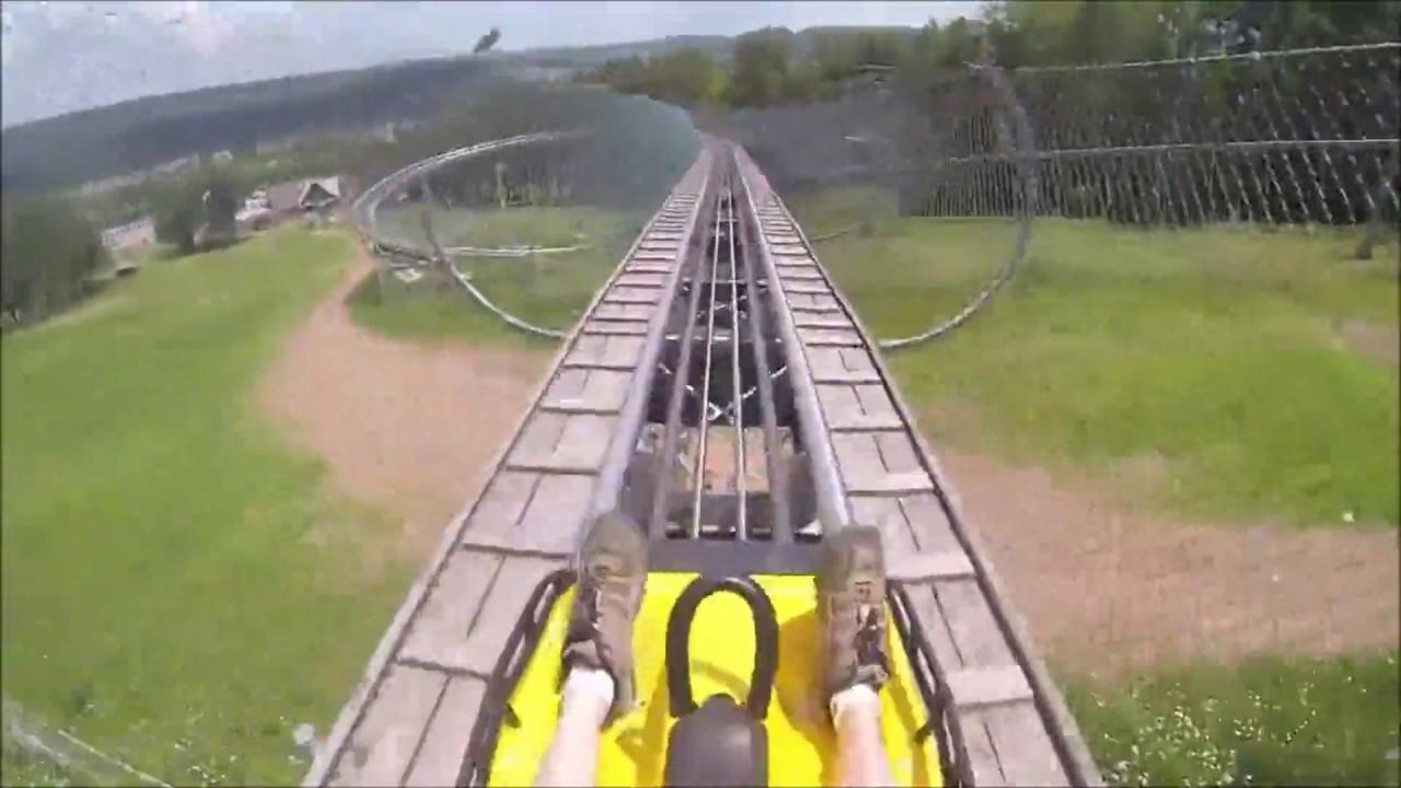 wisp mountain coaster gopro pov with no brakes - youtube