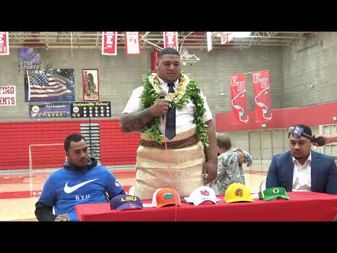 National Signing Day (Early): East's Siaki Ika picks the LSU Tigers (2019).