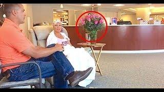 Муж привез ее на последнюю Химиотерапию, а теперь Внимание на Букет Роз!