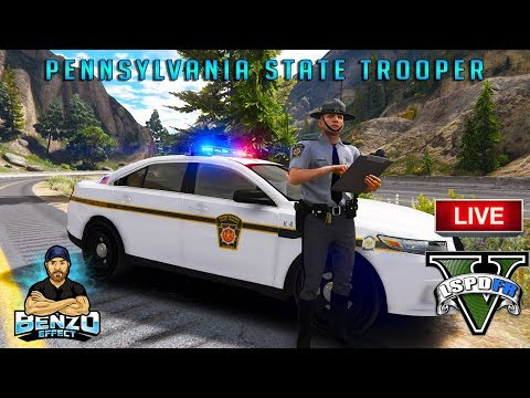 GTA 5 LSPDFR LIVE - Pennsylvania State Trooper with LIVE PA