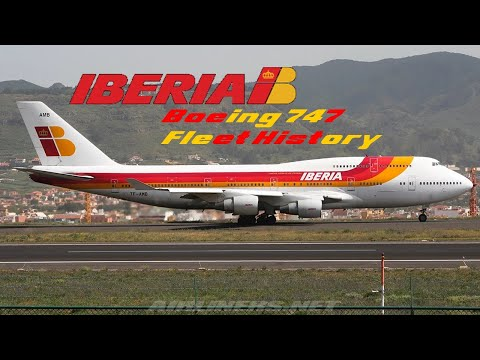 Iberia Boeing 747 Fleet History (1970-2006)