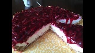 Диетический вишневый пирог. Ягодный ПП пирог. Diet Pie.
