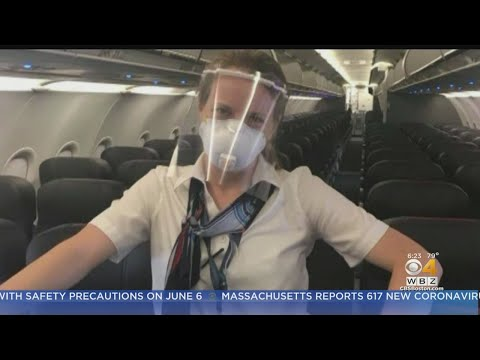 American Airlines Flight Attendant Clashes With Airline Over Choice To Wear Face Shield