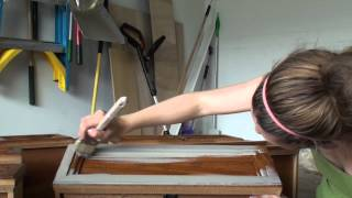 Pretty Distressed Annie Sloan Chalk Paint® Tutorial #1 - Prepping and Painting 1st Coat