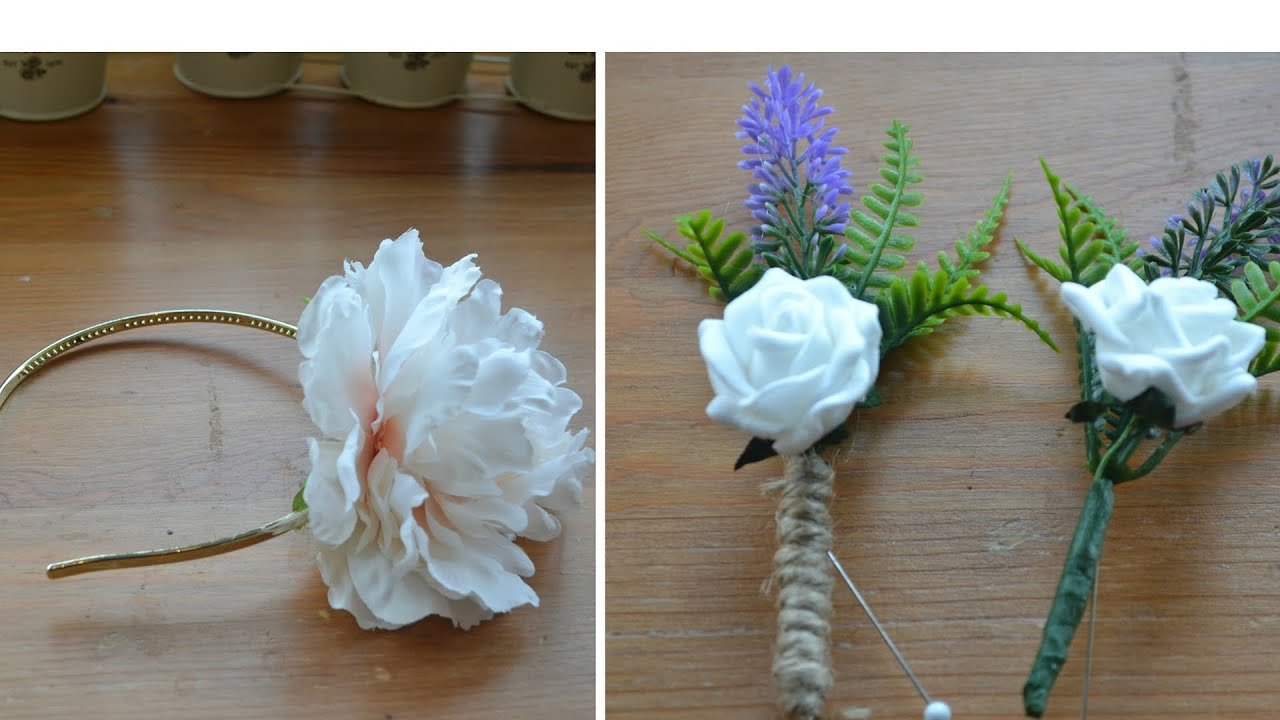 Wedding Accessories How To Make A Flower Headband Fl On Hole