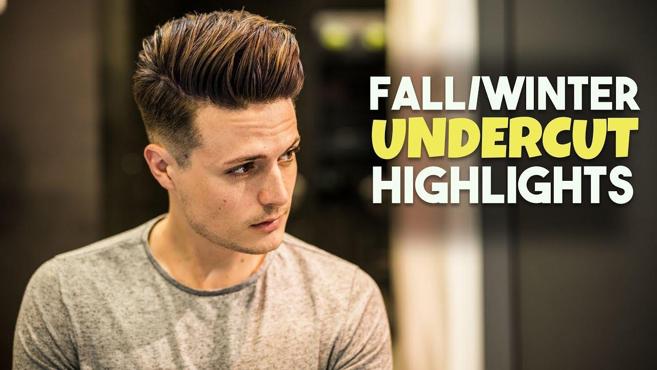 Mens Hair FallWinter Highlights Undercut Hairstyle Tutorial - Hairstyle undercut terbaru