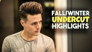 Mens Hair Fall/Winter Highlights | Undercut Hairstyle Tutorial | BluMaan Haircut 2017