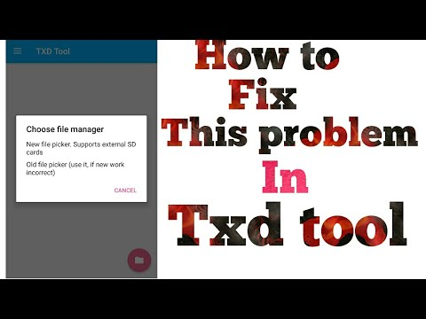 How to fix txd tool problem